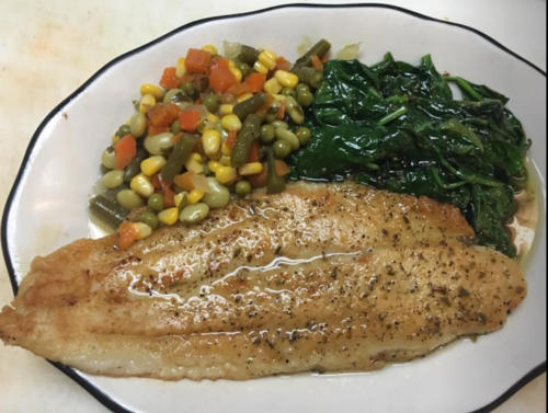 photo of Basa (a type of fish) and Veggies  Special