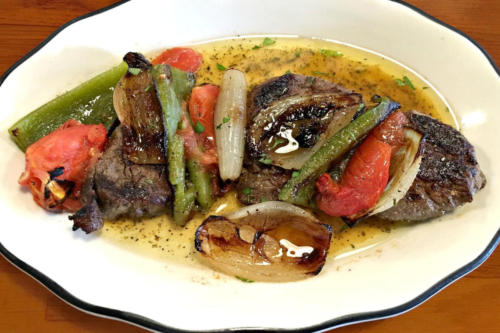 Photo of Beef Kebob and vegetables